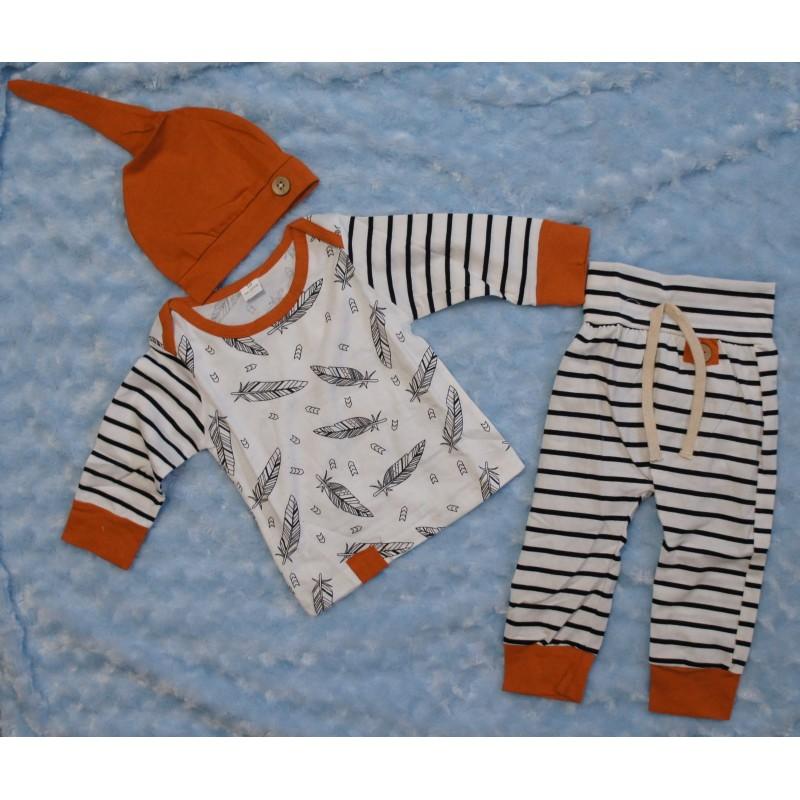 3 Teiliges Babyset - Feder